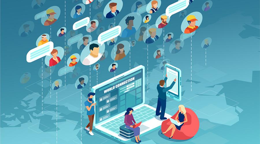 работа чрез социалните мрежи